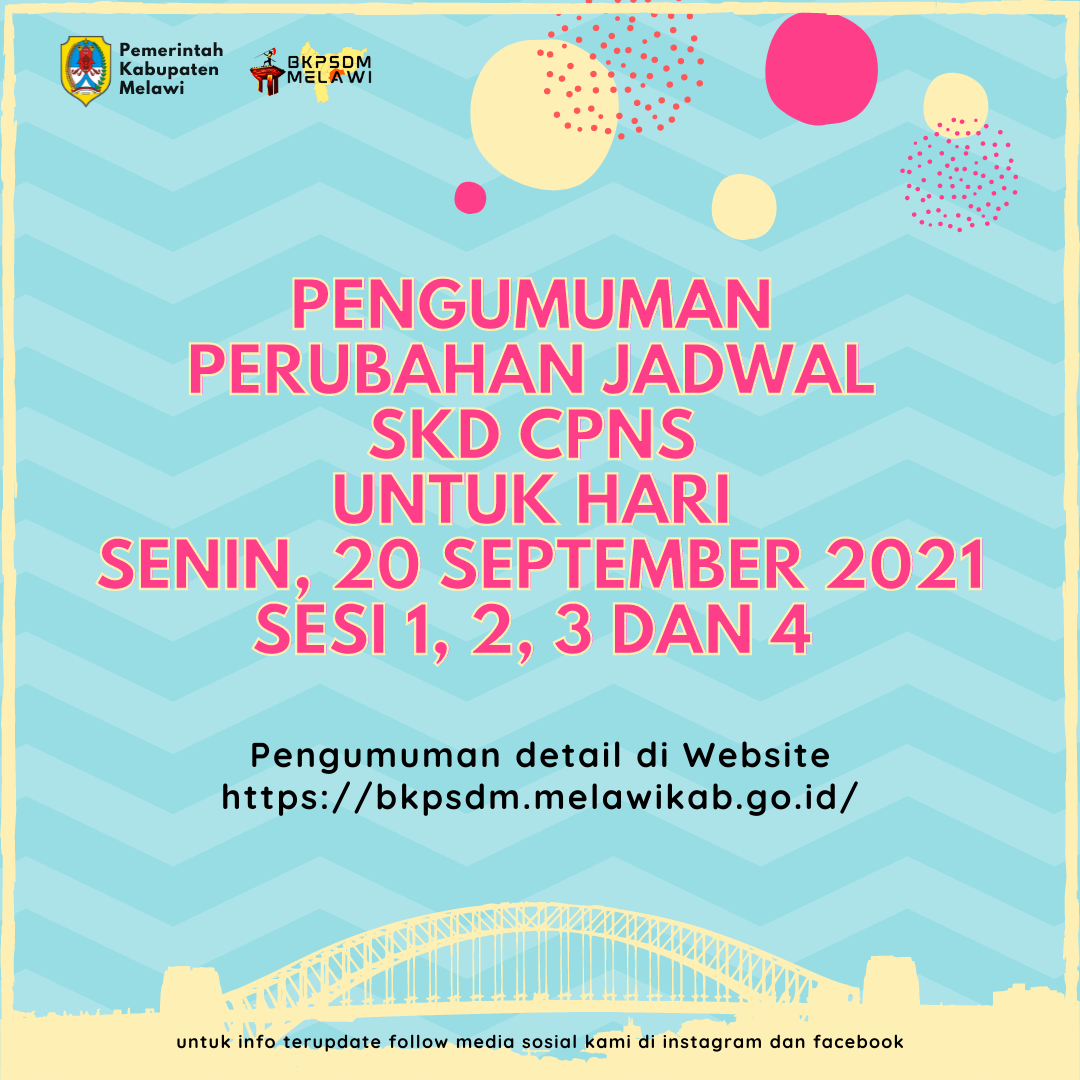 >Pengumuman Perubahan Jadwal SKD CPNS Hari Senin, 20 September 2021