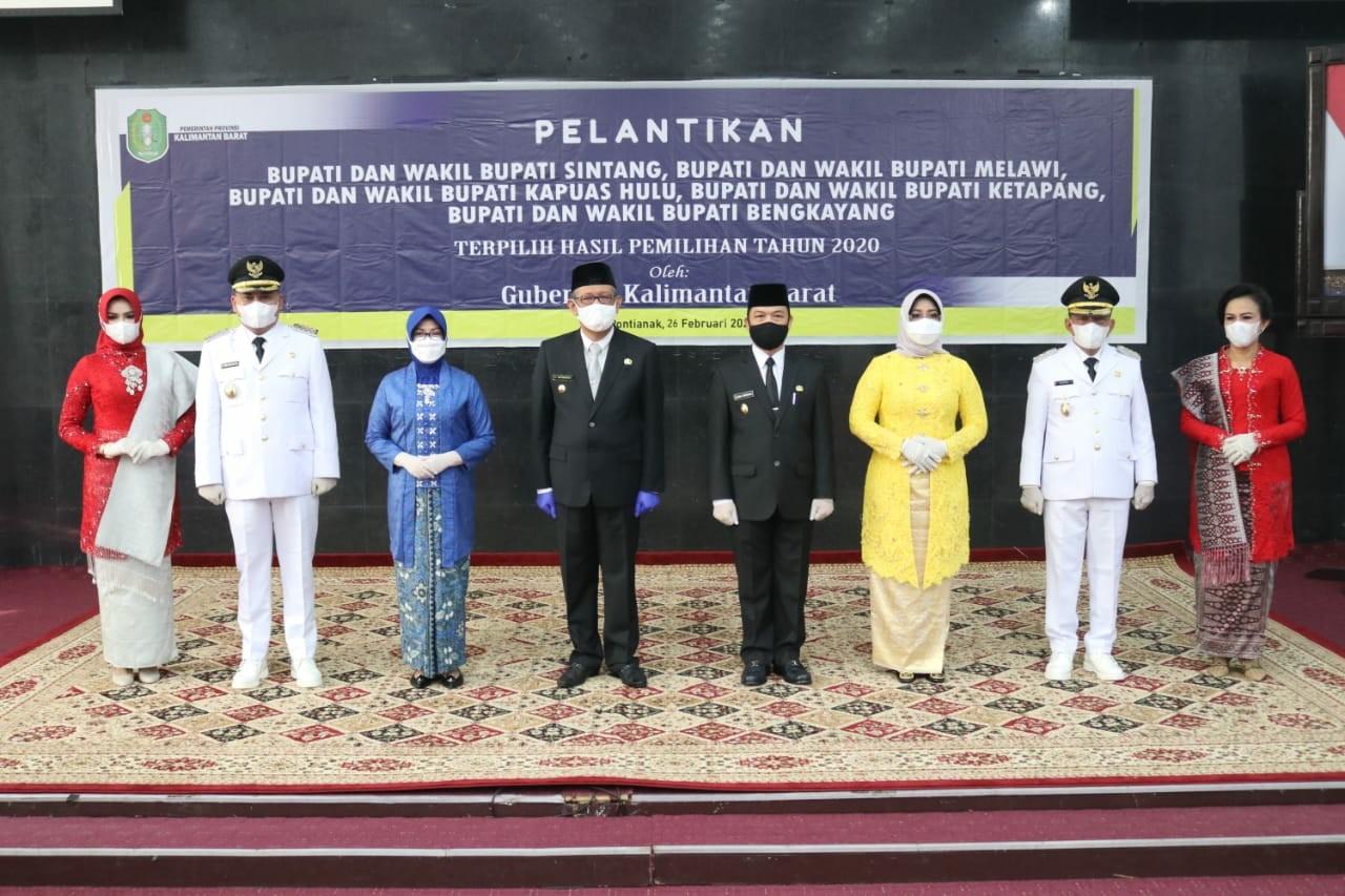 >Pelantikan Bupati dan Wakil Bupati Melawi terpilih 26 Februari 2021