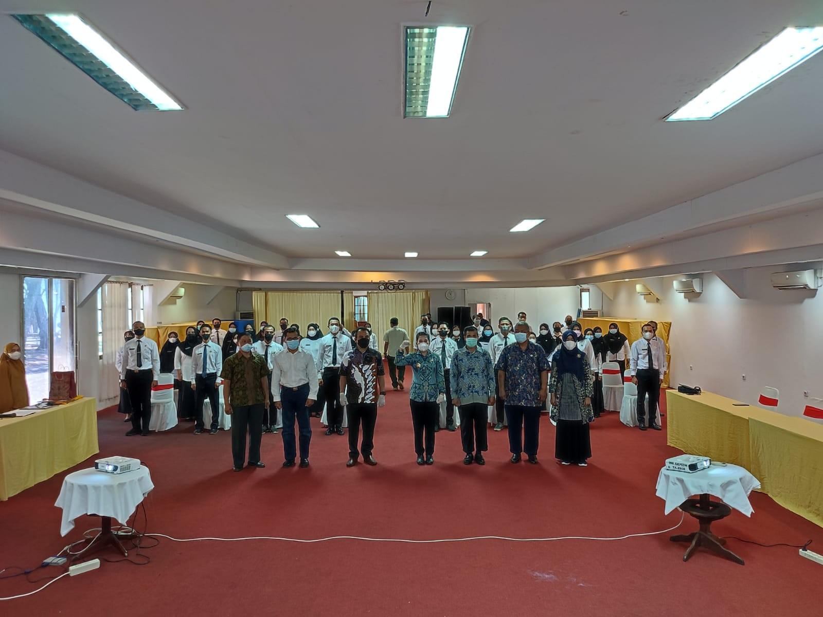 >Kegiatan Seminar Laporan Aktualisasi dan Penutupan Latsar CPNS Golongan III Angkatan CIII di BKPSDM Kota Singkawang